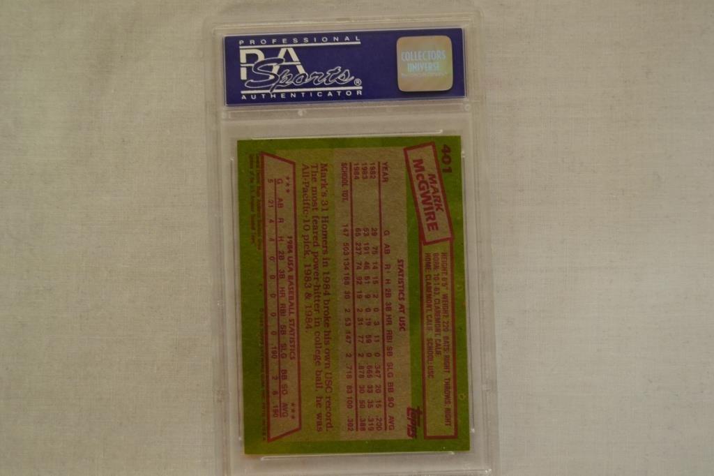 Baseball Card PSA Graded 1985 Topps Mark McGwire - 4