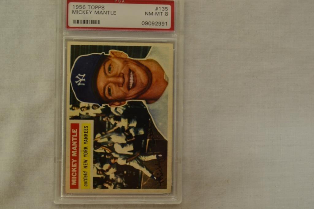 Baseball Card PSA Graded 1956 Topps Mickey Mantle