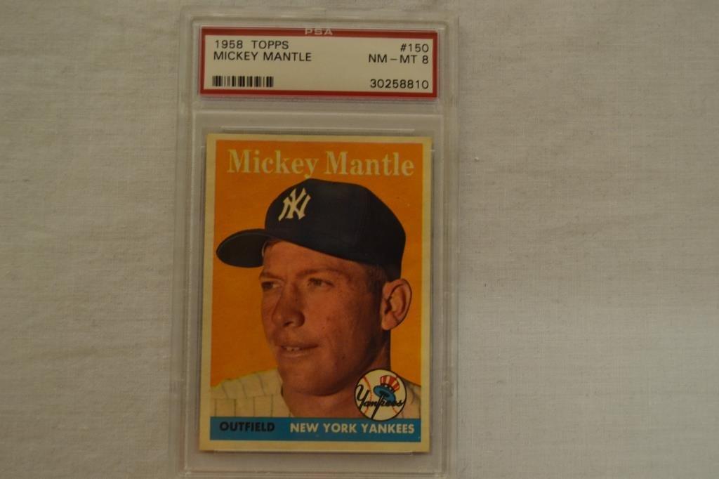 Baseball Card PSA Graded 1958 Topps Mickey Mantle