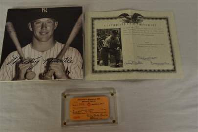 Mickey Mantle's 1966 Professional Club Membership Card