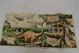 1933 Sinclair Opaline Ohio Road Map Worlds Fair