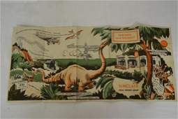 1933 Sinclair Opaline Chicago Road Map Worlds Fair