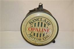 Sinclair Opaline Motor Oil Can 5 Gal Rocker 1920's