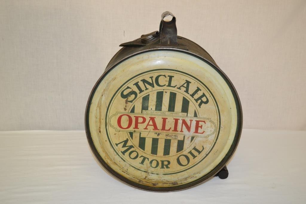 Sinclair Opaline Motor Oil Can 5 Gal Rocker 1920's