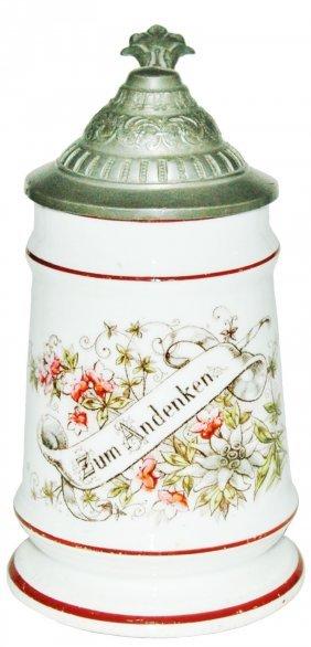 Floral & Verse Porcelain 1/4L Stein