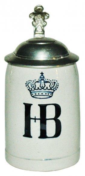 HB & Crown Stoneware 1/8L Stein
