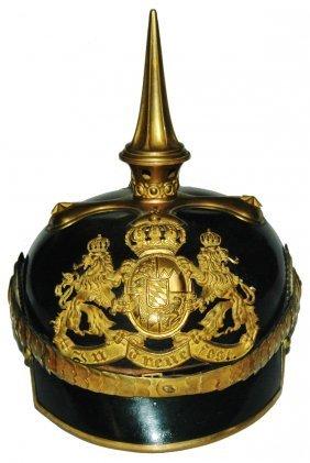 Bavarian Lion Shield Imperial German Helmet