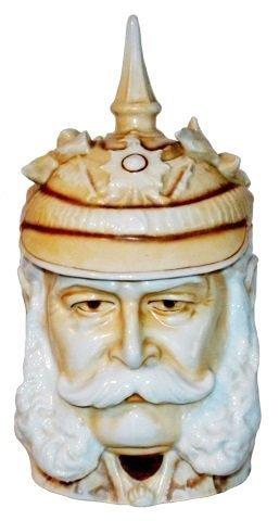 Wilhelm Muttonchops Spiked Helmet Character Stein