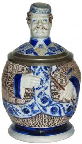 Fraternal Student w pipe Character Stein