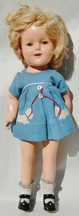 Composition Shirley Temple Doll w Original Dress
