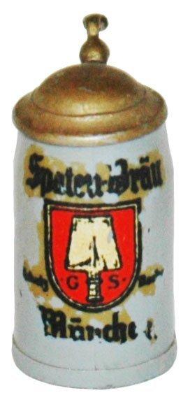 "1"" Mini Spaten Brau Brewery Stein"
