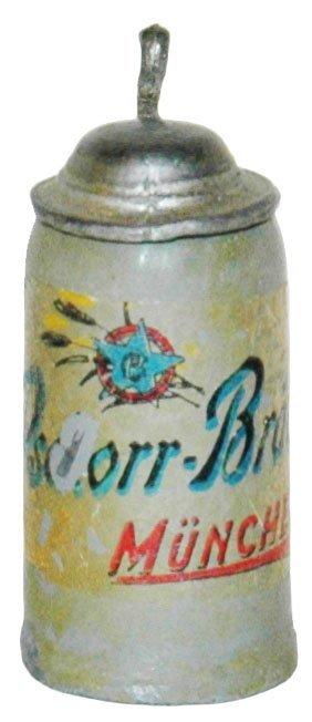 "1"" Mini Pschorr Brau Brewery Stein"