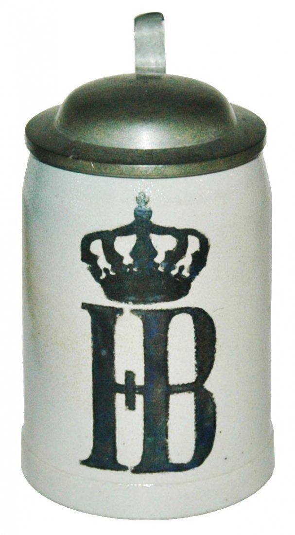 HB Under Crown 1/8L Stoneware Brewery Stein