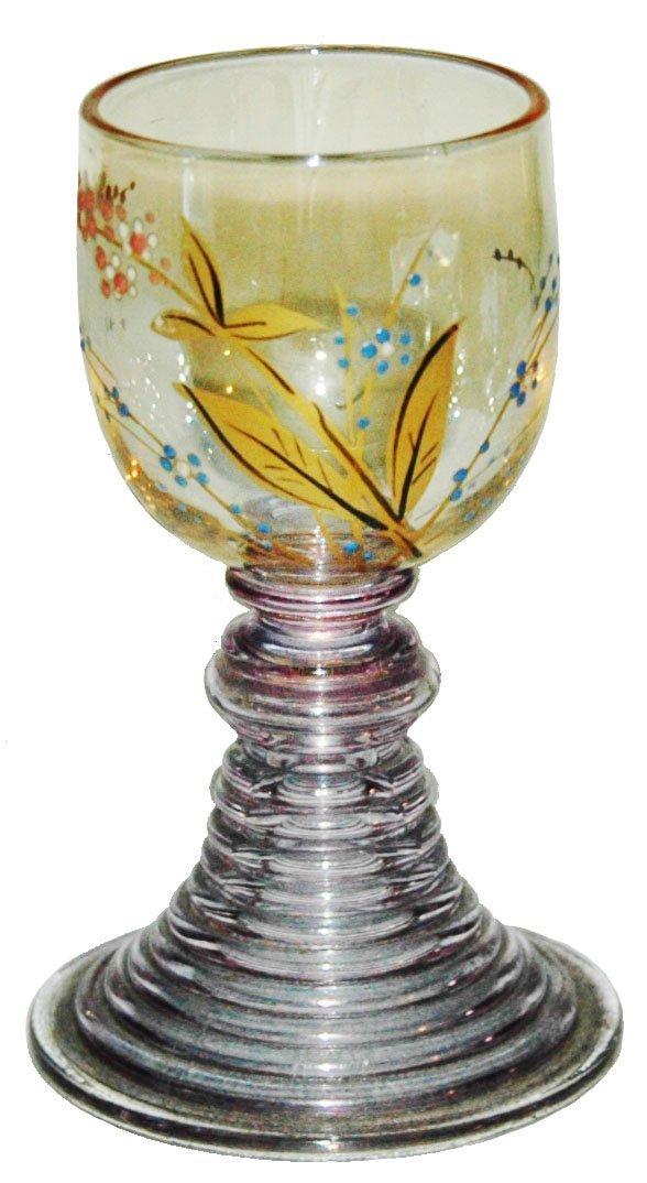 Fritz Heckert Mini Goblet w Gilded Floral Enamel