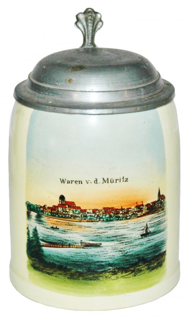 Souvenir Stein Waren v. d. Muritz  Harbor Scene