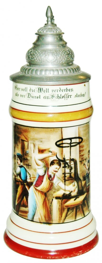 Locksmith Occupational Stein Scene of Men Working