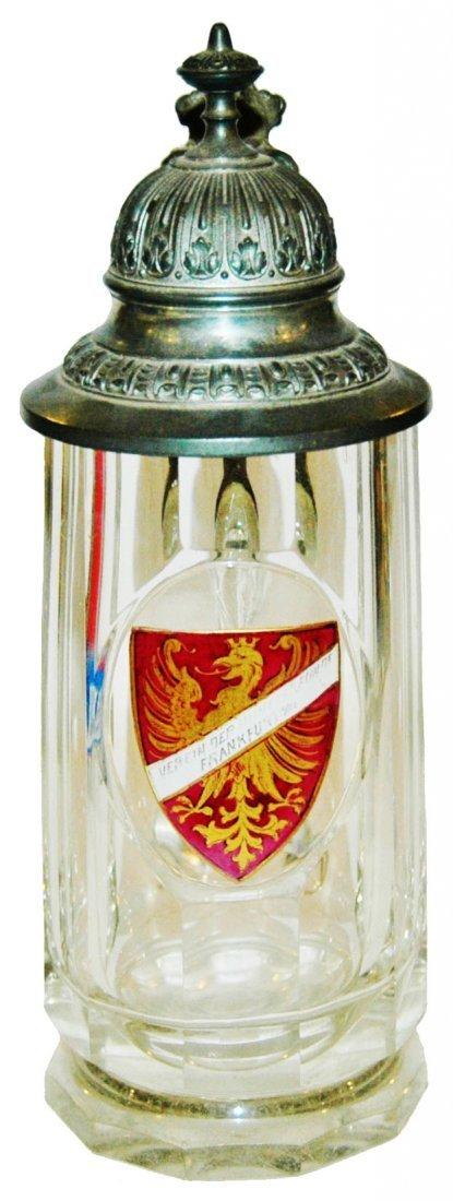 Frankfurt Shield Facet cut Glass Stein