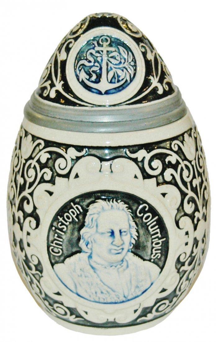 Christopher Columbus Egg Character Stein