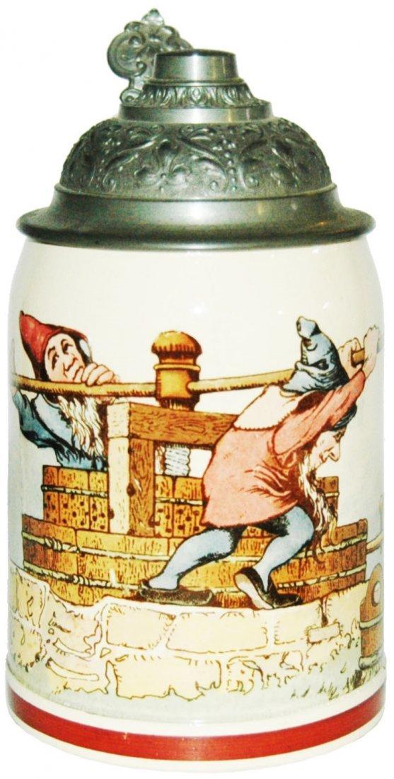 Dwarfs w Wine Press Mettlach Stein