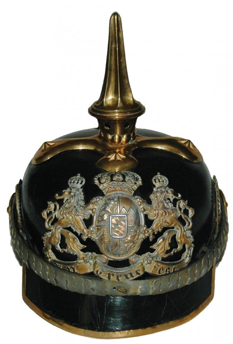 Imperial German Helmet Bavarian Lion Shield