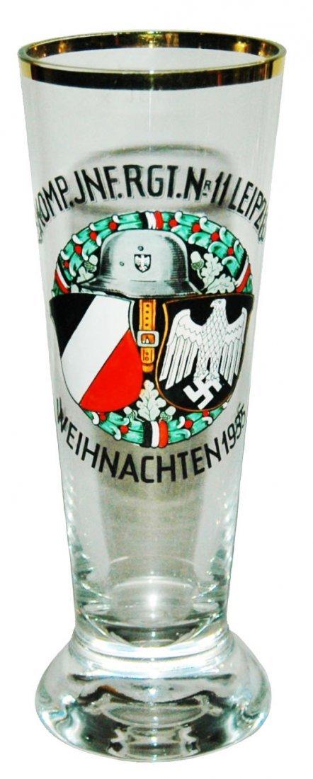Third Reich Inft Reg No 11 Glass Pilsner