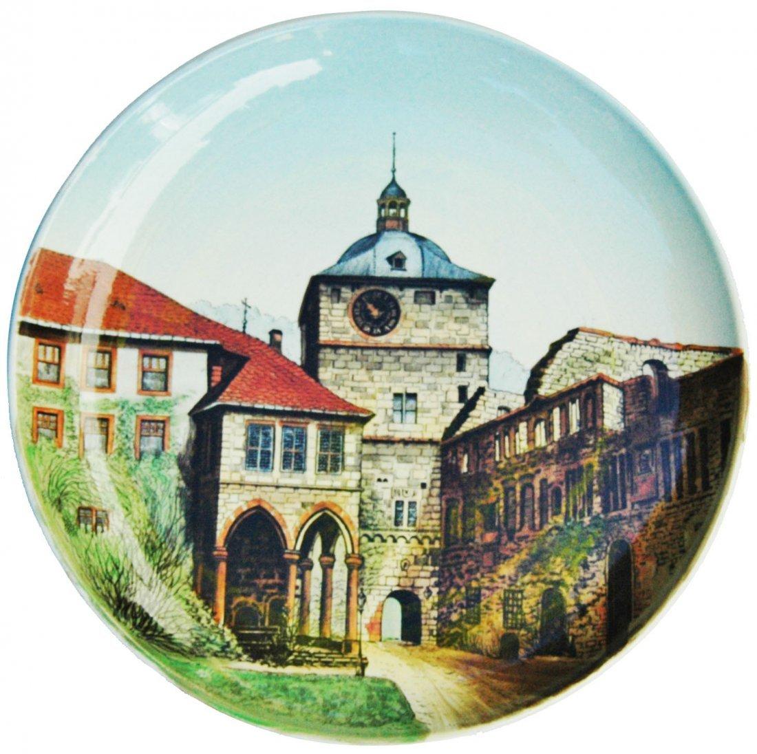 Heidelberg Castle Mettlach Plaque