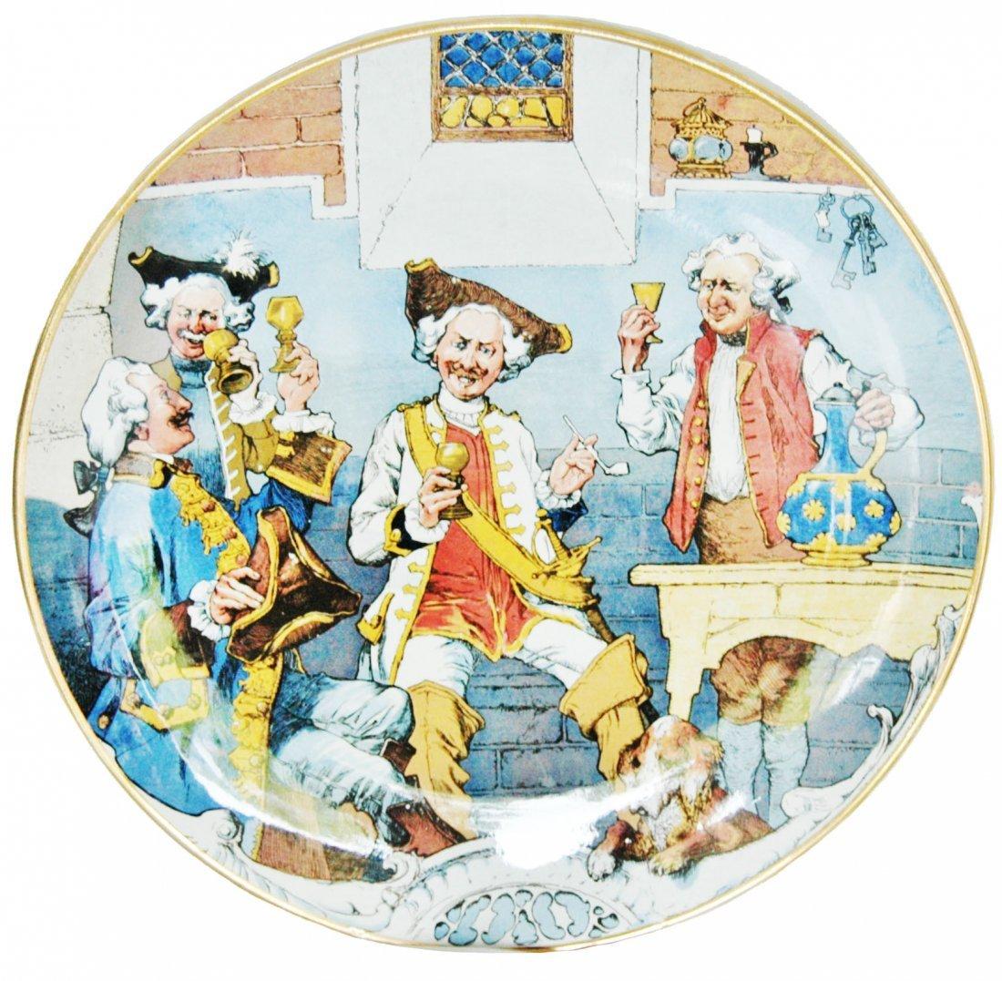 Drinking Schiltt Cavaliers Mettlach Plaque
