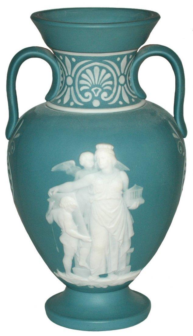 Double Handled Mettlach Romanesque  Cameo Vase