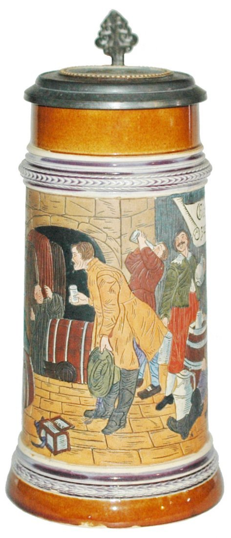 Men in Monks Wine Cellar 1L Stein w Inlay Lid