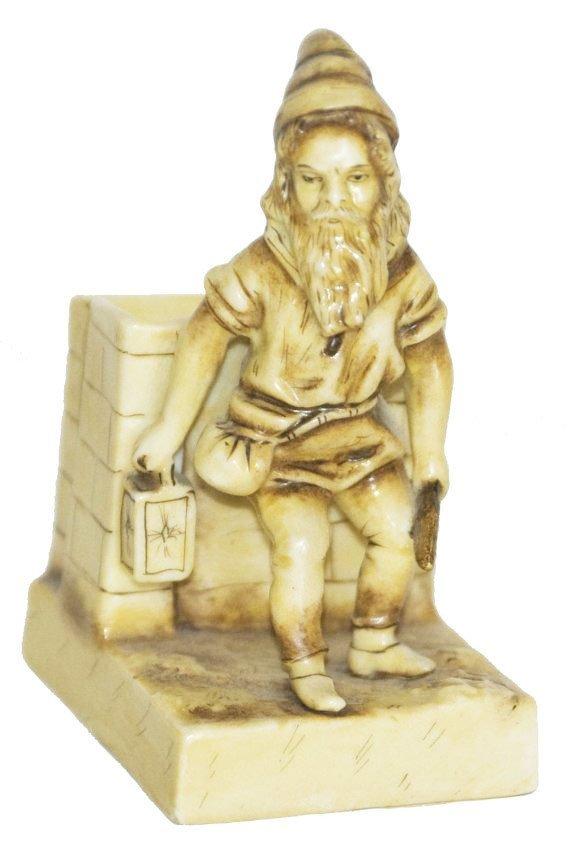 Bohne Porcelain Dwarf Match Holder Striker Figure