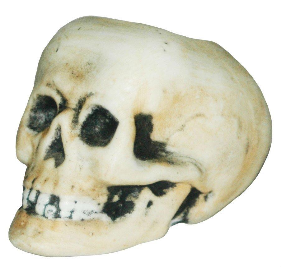 Bohne Porcelain Skull Match Holder w Anchor Mark
