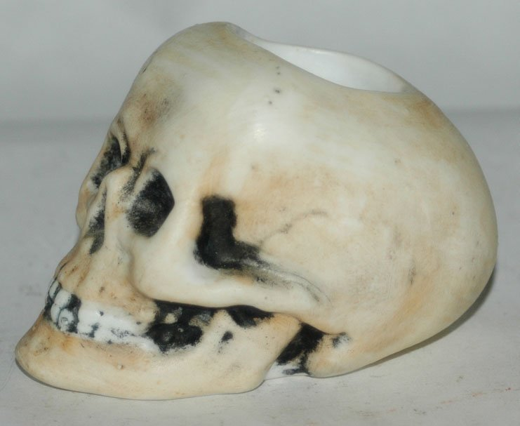 Bohne Porcelain Skull Match Holder w Anchor Mark - 4
