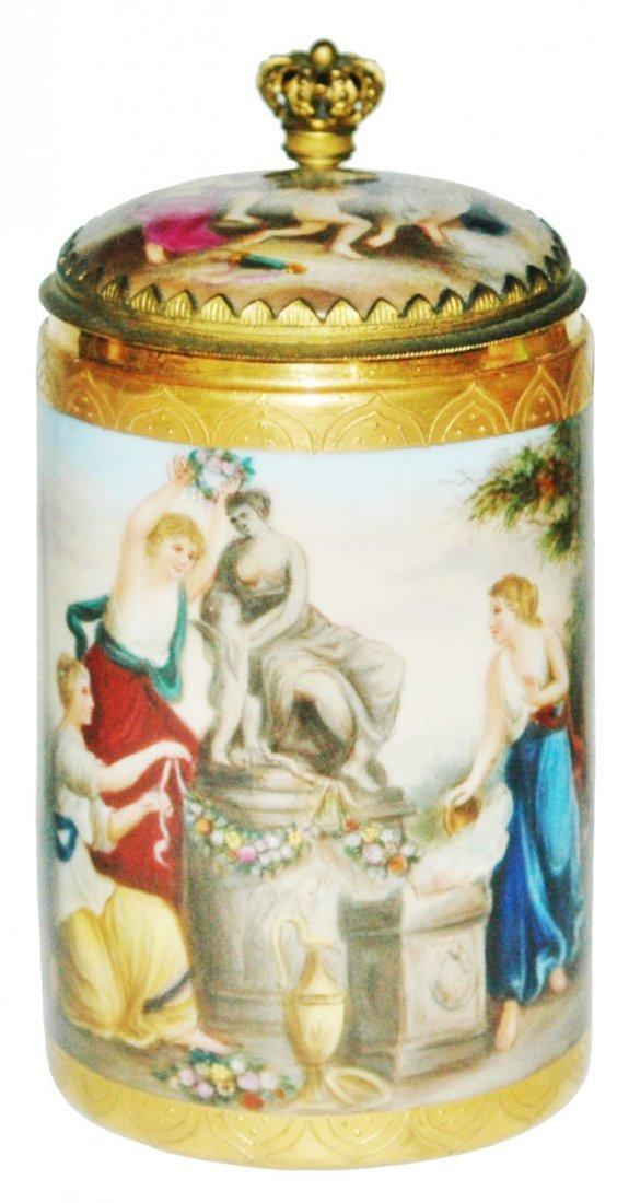 Royal Vienna Romanesque Women Brass Mount Stein