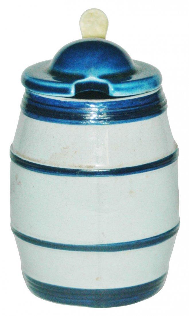 Mettlach Barrel 1/8L Mustard Pot