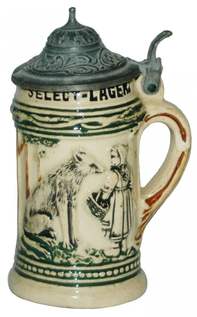 Red Riding Hood Tivolla Lager Advertising Stein