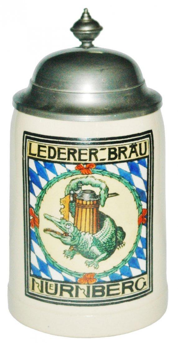 Lederer Brau Nurnberg Brewery Stein