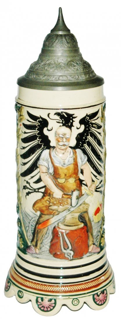 Relief Bismark Black Eagle Music Box Base Stein