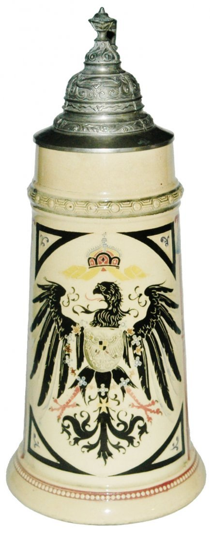 Imperial Eagle 1L Diesinger Stein w Cavaliers