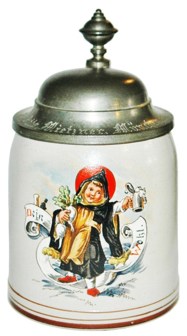 Munich Child w Radish Stoneware Stein