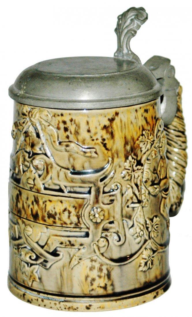 Jon Maresch Terracotta 4/10L Relief Cherub Stein