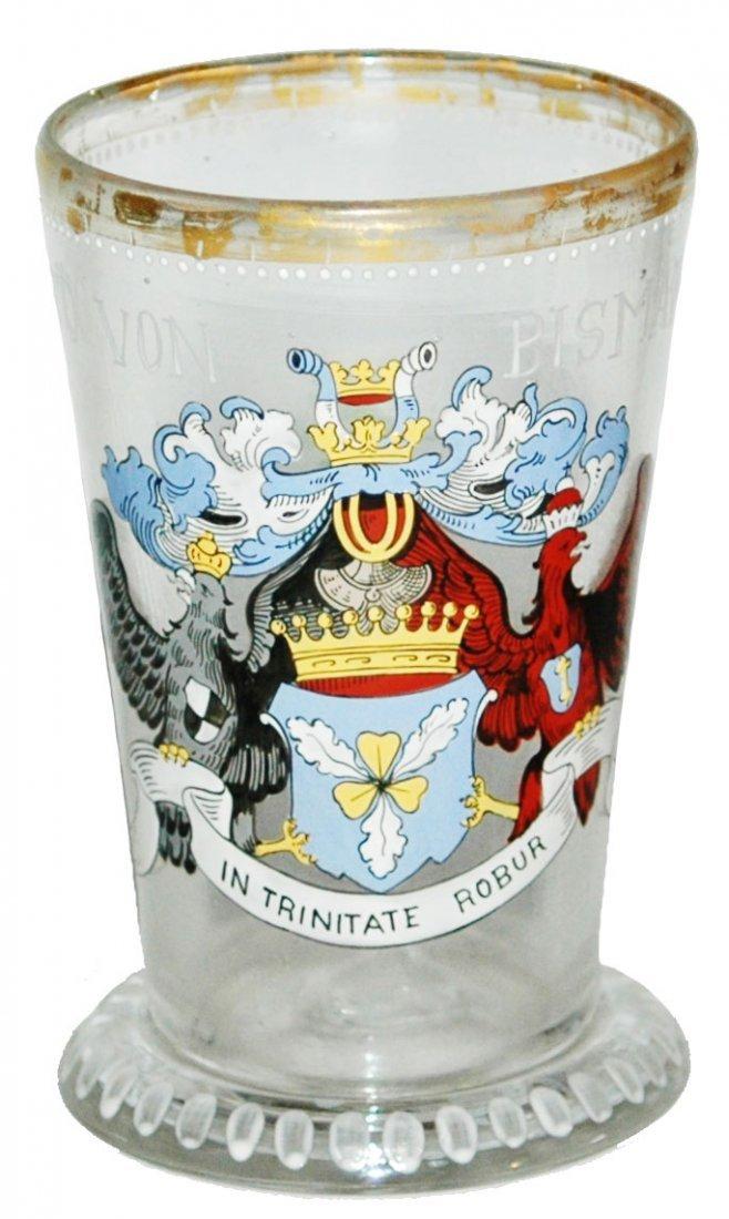 Bismark Enamel Heraldic Shield Beaker Fritz Heckert