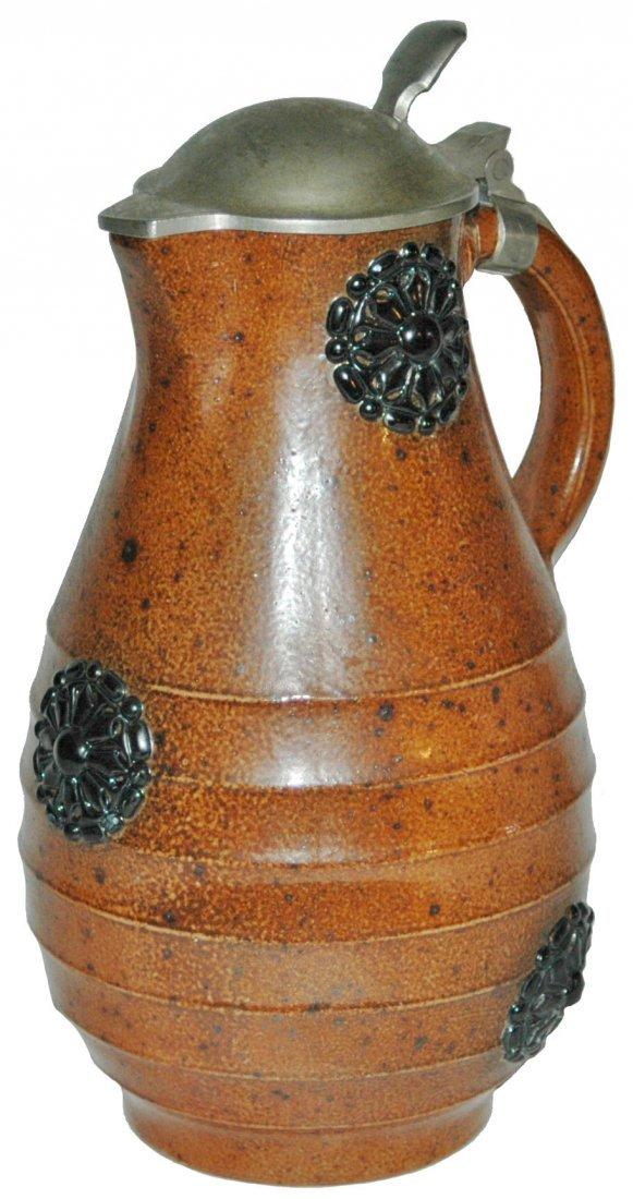 Art Nouveau Stoneware Stein Signed Paul Wynand