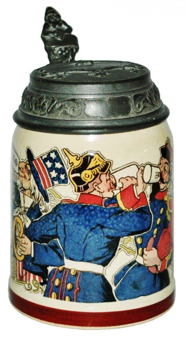 Uncle Sam & Kaiser w othe Leaders Mettlach Stein