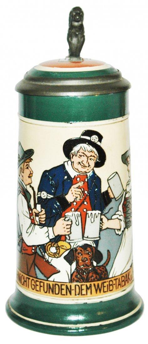Hunter Barmaid & Postman Have Beer Mettlach Stein