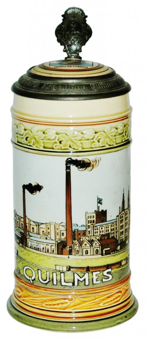 Mettlach Quilmes Brewery Early Version Stein