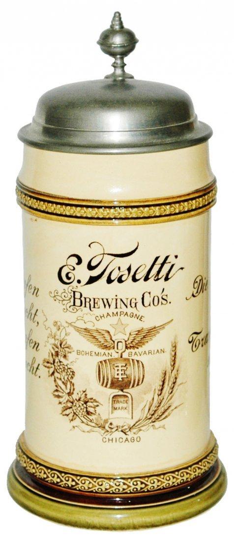 Tosetti Brewing Co Chicago Mettlach Adv Stein