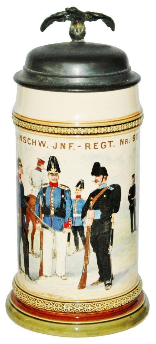 Mettlach Inft Regimental Nr 92 Military Stein
