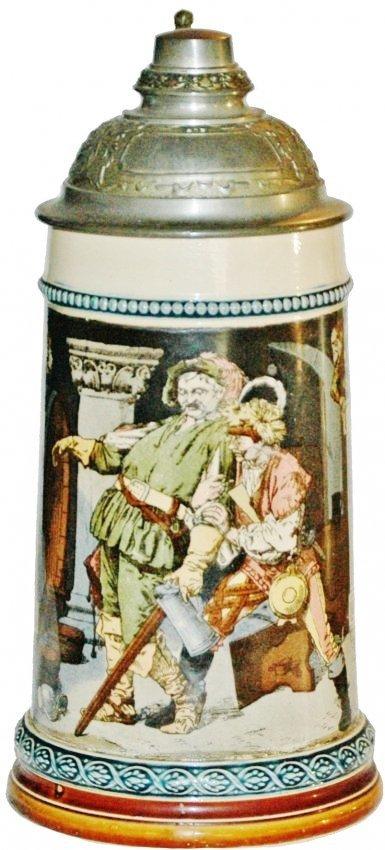 Drunk Cavaliers in Cellar Mettlach Stein