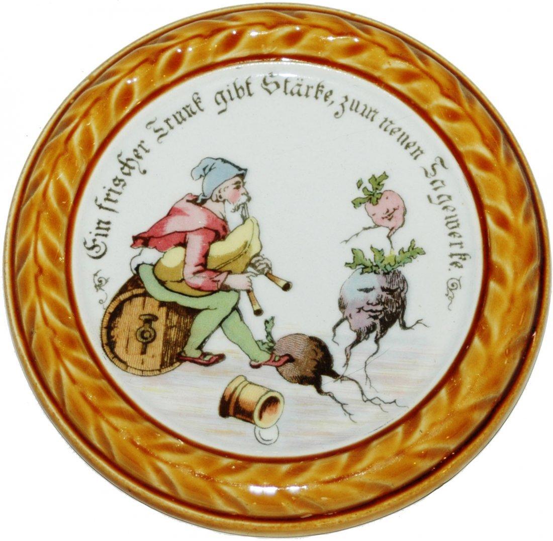 Four Dwarf Scene Mettlach Coasters - 2