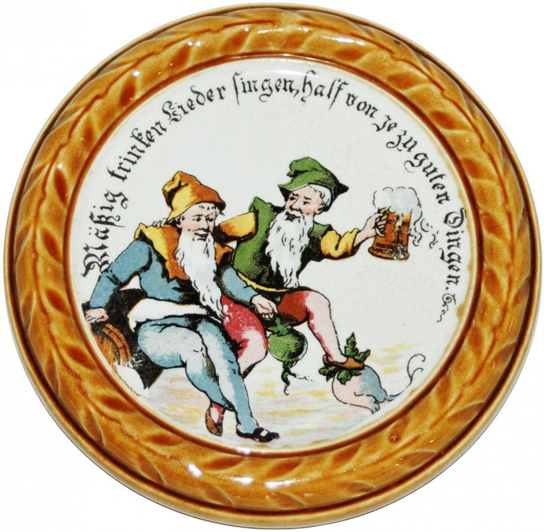 Four Dwarf Scene Mettlach Coasters - 3